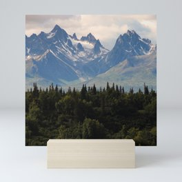 Canada Photography - Forest In Front Of Mountains Mini Art Print