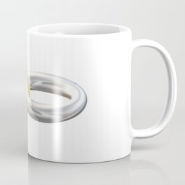 Gold and silver 3D ring. Coffee Mug