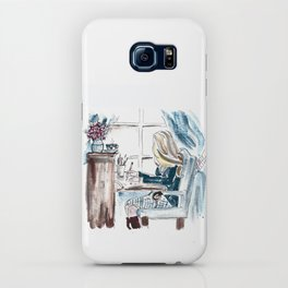 Morning at the Desk iPhone Case