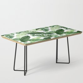 Green leaf watercolor pattern Coffee Table