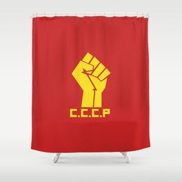CCCP Fist Shower Curtain
