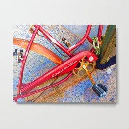 Vintage Street Bicycle Photo Detail Metal Print