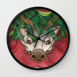 Baby Reindeer Wall Clock
