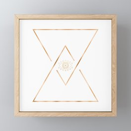 Mandala Gold Geometric Eye Framed Mini Art Print
