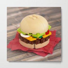Gourmet Burger Metal Print