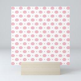 Pig Pattern | Pink Piglet Farm Farmer Mini Art Print