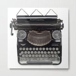 Continental Type writer Metal Print