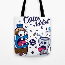 Blue Cola Addict Tote Bag