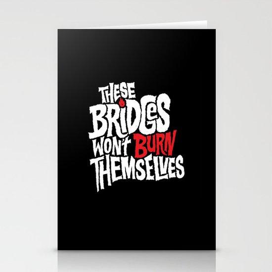 Burning Bridges Stationery Cards