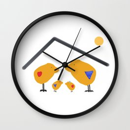 Sunny Family Sweet Home and Kids Wall Clock