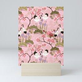 Japanese Garden in Pink Mini Art Print