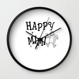 Happiness is Being a MIM (front) Wall Clock