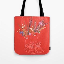 flowers sneakers v2 Tote Bag