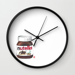 Nuts for Nutella Wall Clock