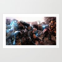 middle earth Art Prints featuring Middle-Earth: Shadow of Mordor by SB Art Productions