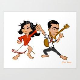 Los Dancers Art Print
