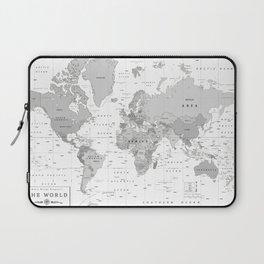 World Map [Black and White] Laptop Sleeve