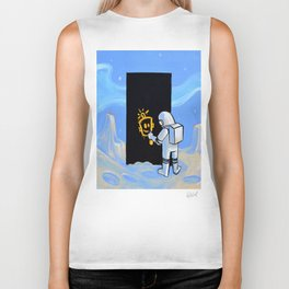 Happy In Space Biker Tank
