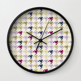 AFE Houndstooth Pattern Wall Clock