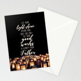 Matthew 5:16 Stationery Cards
