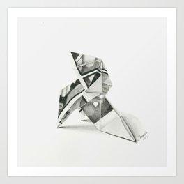 Origami Bird II Art Print