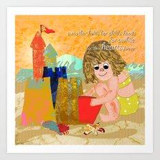 Beach Memoirs Art Print
