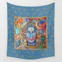 shiva Wall Tapestries featuring Pure Shiva Conciousness by Mikaela Perera