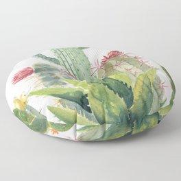 Cactus Watercolor Floor Pillow