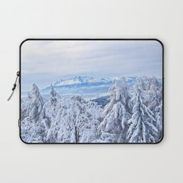 White out #mountains #winter Laptop Sleeve
