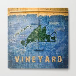 Vintage Vineyard Metal Print
