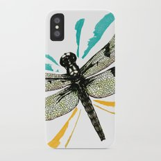 Autumn dragonfly Slim Case iPhone X