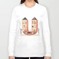 letter Long Sleeve T-shirts featuring Letter U by Margarida Esteves