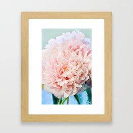 Peony Flower Photography, Pink Peony Floral Art Print Nursery Decor A Happy Life  - Peonies 1 Framed Art Print
