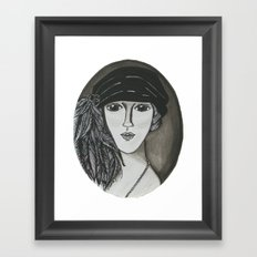 Bright Eyed Girl Framed Art Print