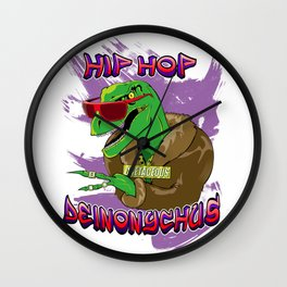Hip Hop Deinonychus Wall Clock