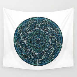 Winter Mandala Wall Tapestry