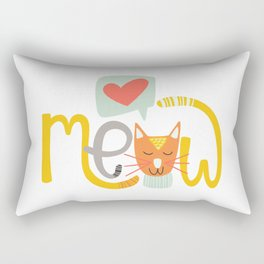 Meow Love Rectangular Pillow