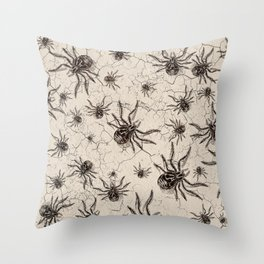 Crab Spider  Khaos Throw Pillow
