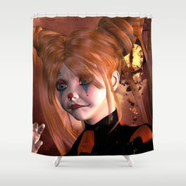 The sweet sad clown Shower Curtain