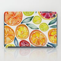 lime iPad Cases featuring Sliced Citrus Watercolor by Cat Coquillette