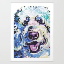 Golden Doodle Dog Portrait Pop Art painting by Lea Art Print