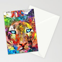 Puma Watercolor Grunge Stationery Cards