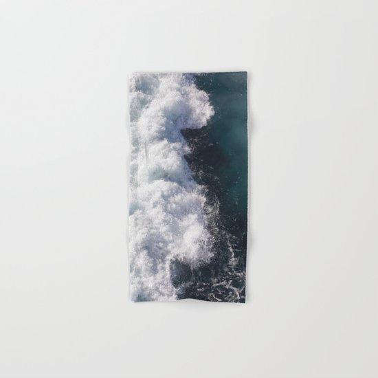 sea - midnight blue wave Hand & Bath Towel