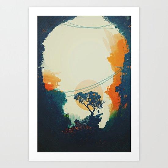 Orange Tree Large Format Art Print