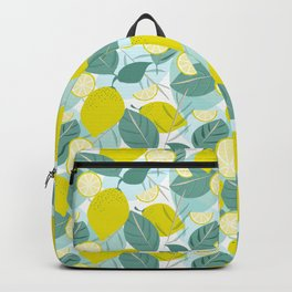 Lemons and Slices Backpack