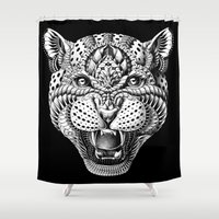 bioworkz Shower Curtains featuring Leopard by BIOWORKZ