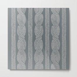 Cable Greys Metal Print