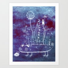 big adventure at night Art Print
