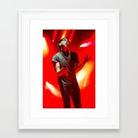 time low Framed Art Prints featuring All Time Low by Ashton Garner