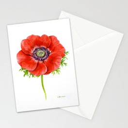 Red Anemone Stationery Cards